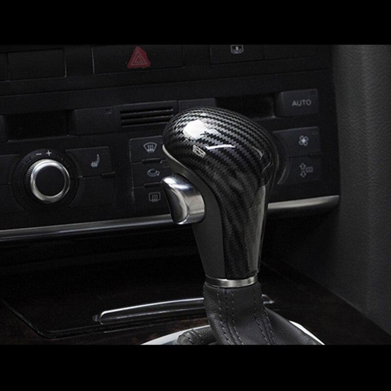 Carbon Fiber Gear Shift Knob Head Cover Trim Sticker for AUDI A4 A5 A6 A7 Q5 Q7