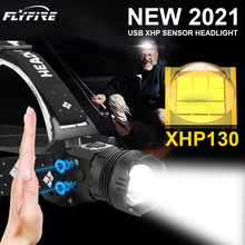 1000000LM XHP130 High Powerful Headlamp Flashlight Head Torch LED USB Headlight 18650 Rechargeable Fishing Lantern Head Light