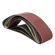 6 Pieces Set 4x36 Inches Aluminum Oxide Metal 80 120 180 240 320 400 Grits Sanding Band Belts Abrasive Tools