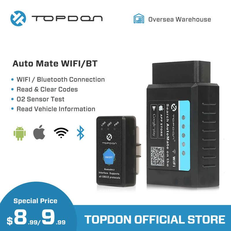 TOPDON AutoMate ELM327 Bluetooth V1 5 WIFI pic18f25k80 OBD2