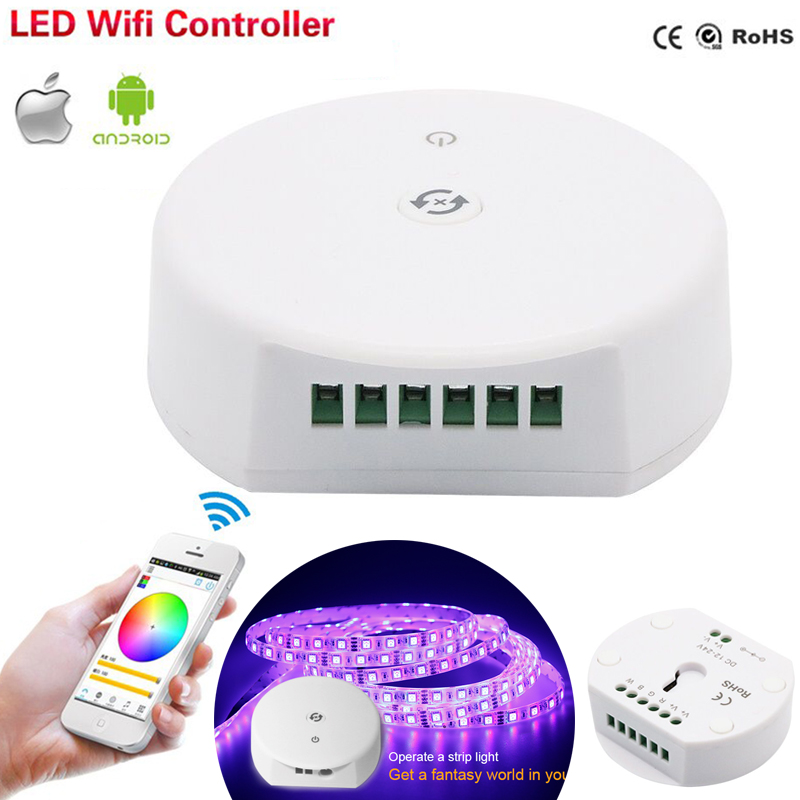 Bluetooth Wireless LED RGB Light Strip Controller UFO Dimmer Smart IOS Android App Remote Control 12V 24V Music Sync Timer RGBW image