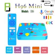 New Android 9.0 H96 Mini H6 tv Set Top Box 2.4G/5G Wifi Smart Tv HDMI 2.0 4GB RAM 32GB 128GB 6k HD YouTube Media Player