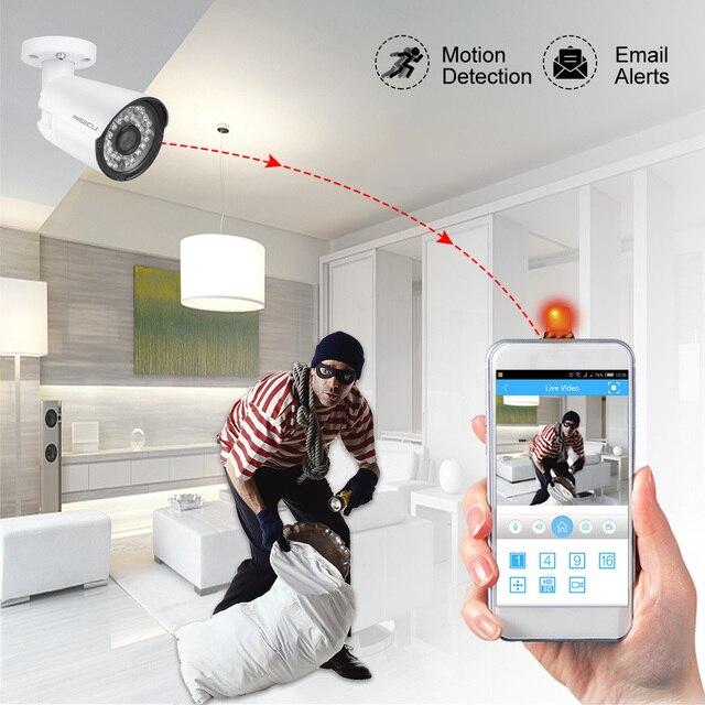 MISECU H.265 8CH 1080P HDMI POE NVR Kit système de sécurité CCTV 2.0MP IR enregistrement Audio extérieur caméra IP P2P ensemble de Surveillance vidéo
