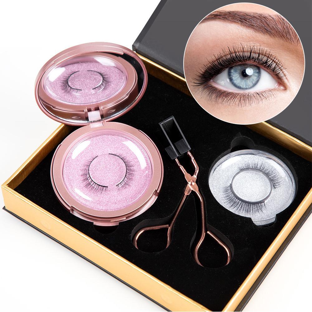 3Pairs/Set Magnetic Eyelashes Applicator Clip No Glue Need Easy Apply Eyelashes Reusable Quantum Soft Magnetic False Eyelash 4