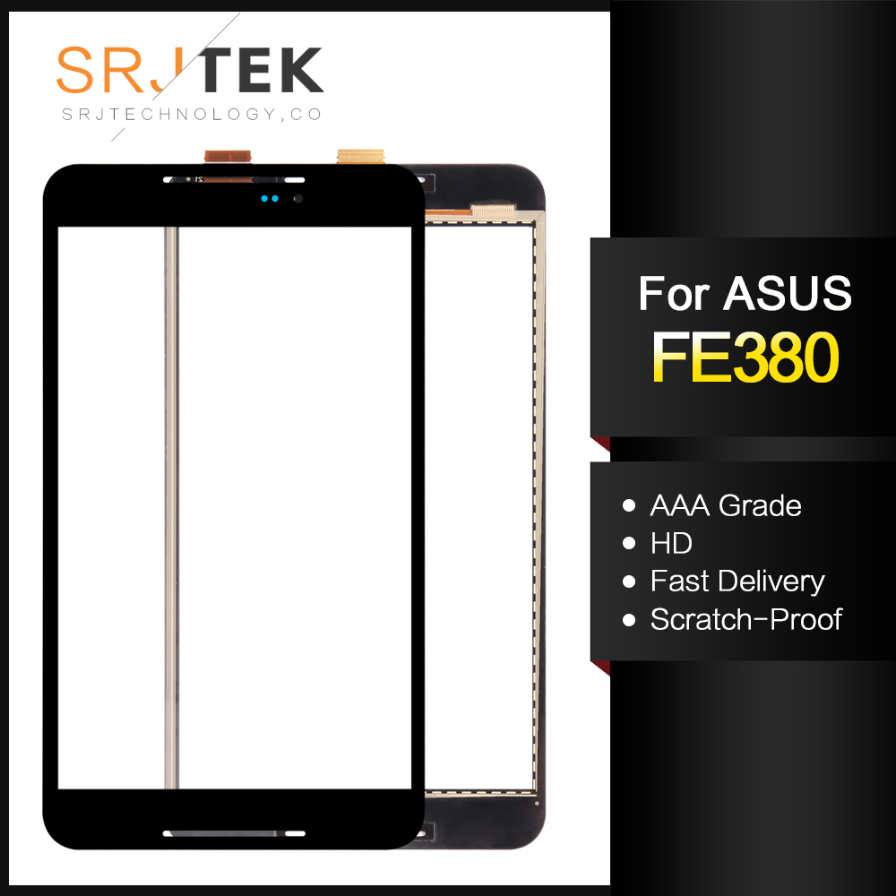For ASUS Fonepad 8 FE380 FE380CG FE380CXG FE8030CXG K016 Touch Screen Digitizer Glass Panel Replacement White/Black