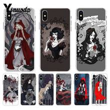 Yinuoda Gelap Dongeng Putri Little Red Riding Hood Top Phone Case untuk Apple iPhone 8 7 6 6S plus X XS Max 5 5S SE XR Cover(China)