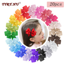 TYRY.HU 20pc Kids Bow Tie Hairpins Boutique Alligator Clip Grosgrain Ribbon Hair Clips for girls For Princess Girls Barrettes