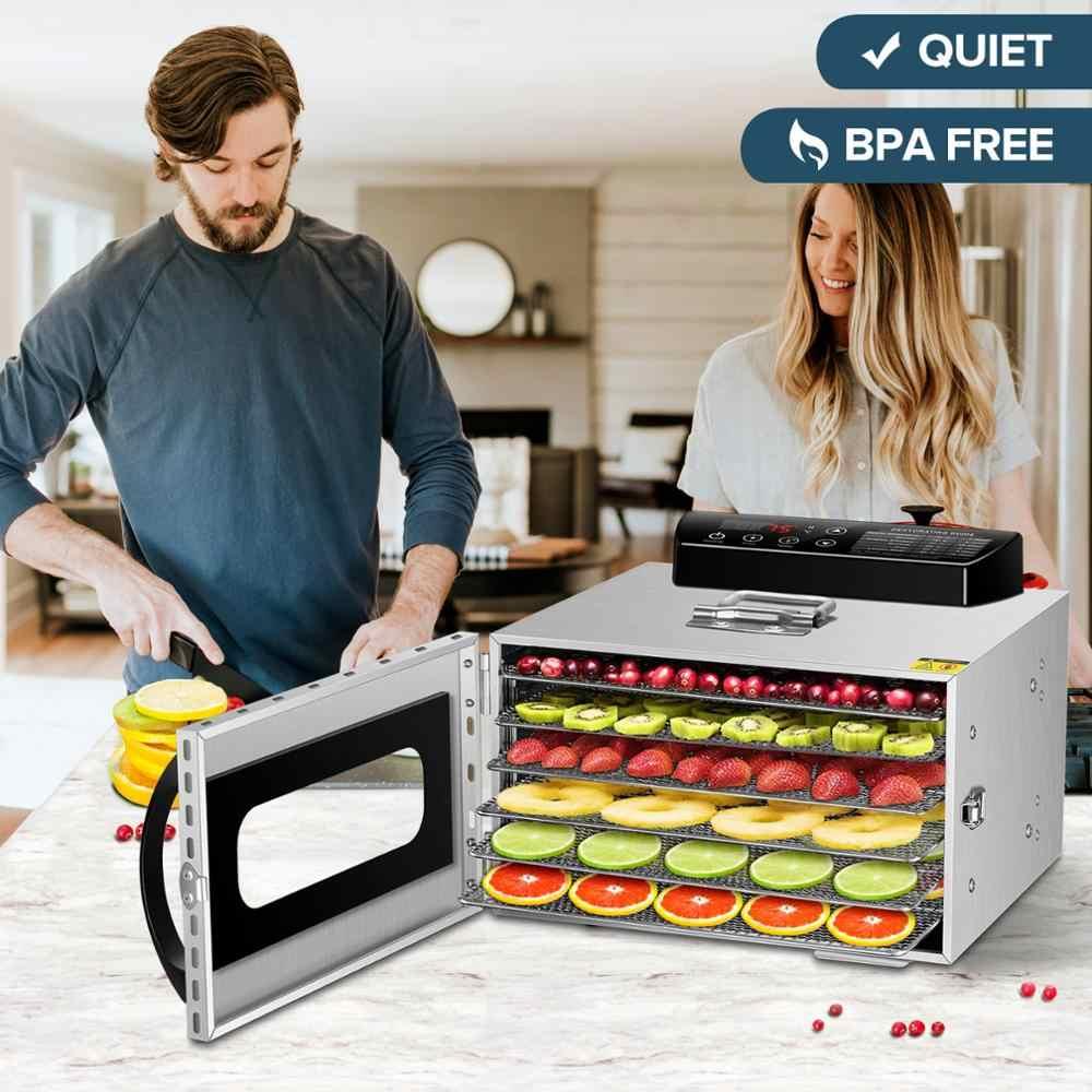 Kwasyo 6 bandejas desidratador de alimentos máquina de secagem de frutas secador para legumes secos frutas carne máquina de secagem inoxidável ste
