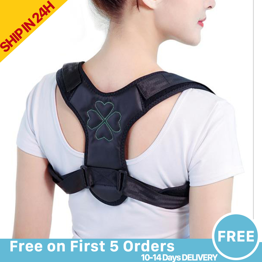 Posture Corrector Back Support Unisex Women Men Adjustable Belt Support Invisible Upper Clavicle Straightener