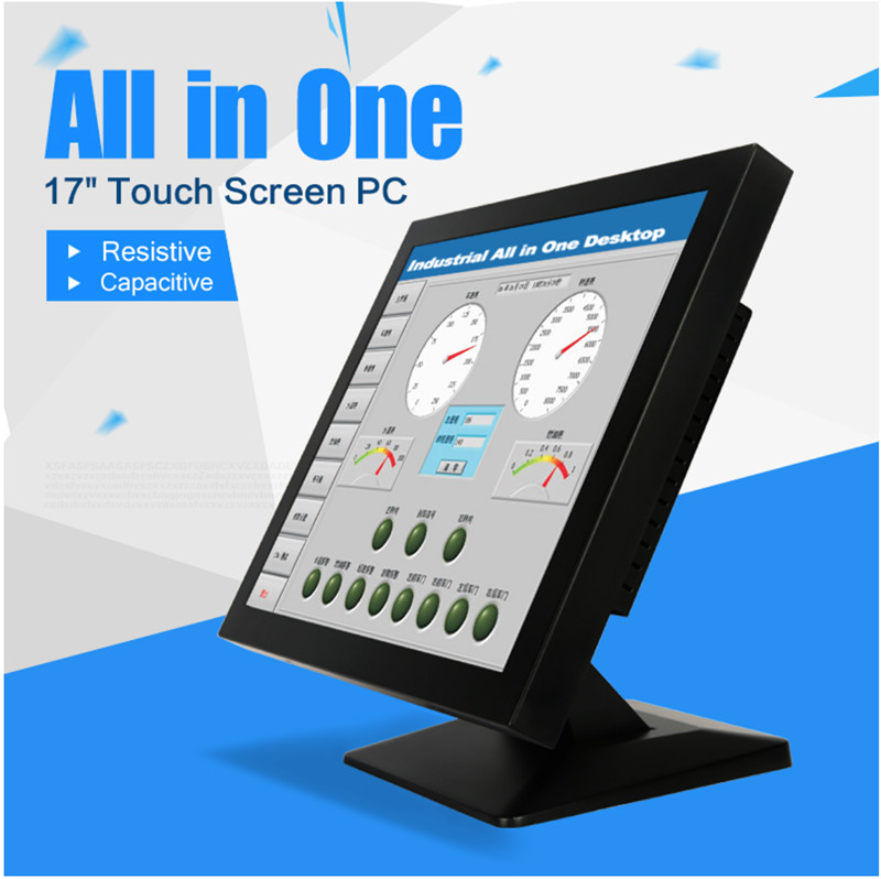 Factory Aluminum Alloyed Fanless J1900 19 Inch Touch Screen Industrial Panel Pc With 4USB 2 Lan And 4 RS232