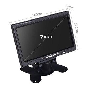 GSPSCN HD pantalla LCD a Color de 7 pulgadas, vista trasera de coche, DVD, Monitor VCR, luces LED, visión nocturna, cámara reversa de respaldo, infrarrojo