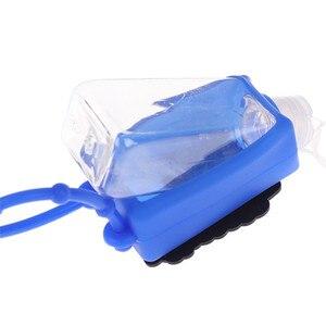 Image 5 - סיליקון מיני יד Sanitizer חד פעמי לא נקי להסרה כיסוי נסיעות נייד בטוח ג ל 1pc אקראי לשלוח