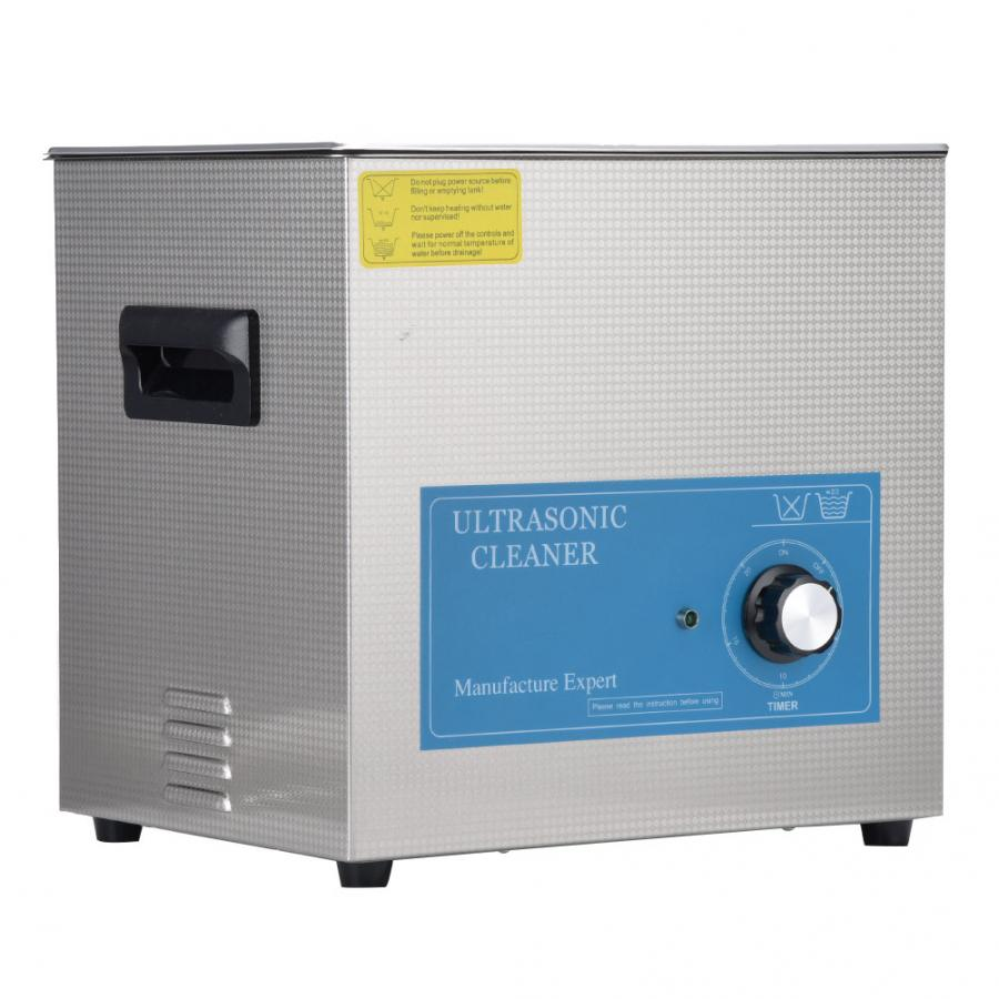 10L Ultrasonic Cleaner Stainless Steel Mechanical Timing Scientific Laboratory Cleaning Supplies 240W 40KHz