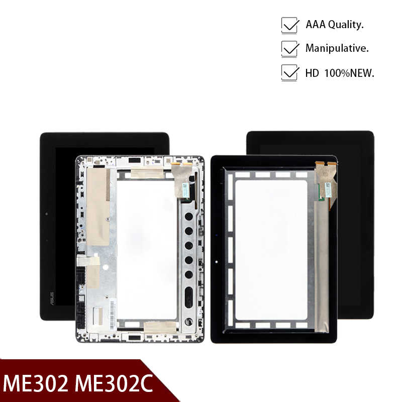 Display LCD Monitor Touch Screen Digitizer Assembly con telaio per ASUS ME302 ME302C K00A 5425N non per ME302KL K005