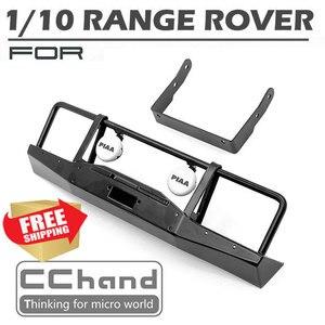 Sterowanie radiowe samochód RC range rover 1/10 axial scx10 metal ARB zderzak przedni led light spot opcja części zamienne