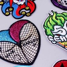 Pulaqi панк-рок пластырь Железный на полосе пластырь одежда Сделай Сам вышитые Пластыри для одежды пластырь музыкальные значки для наклейки футболка