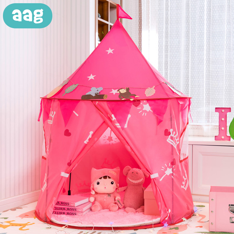 AAG Children's Tent Kids Teepee Tents For Events Child Cabin Game House Infant Wigwam Princess Castle Hut Baby Play Tent Lodge