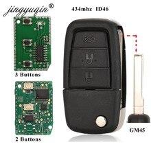 Jingyuqin clé de voiture à distance 2/3BTN + panique pour Pontiac G8 / Holden VE Commodore Omega Berlina Calais SS SV6 HSV GTS 434mhz ID46