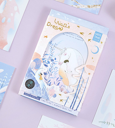 P117- Girl Dream Paper Postcard(1pack=30pieces)