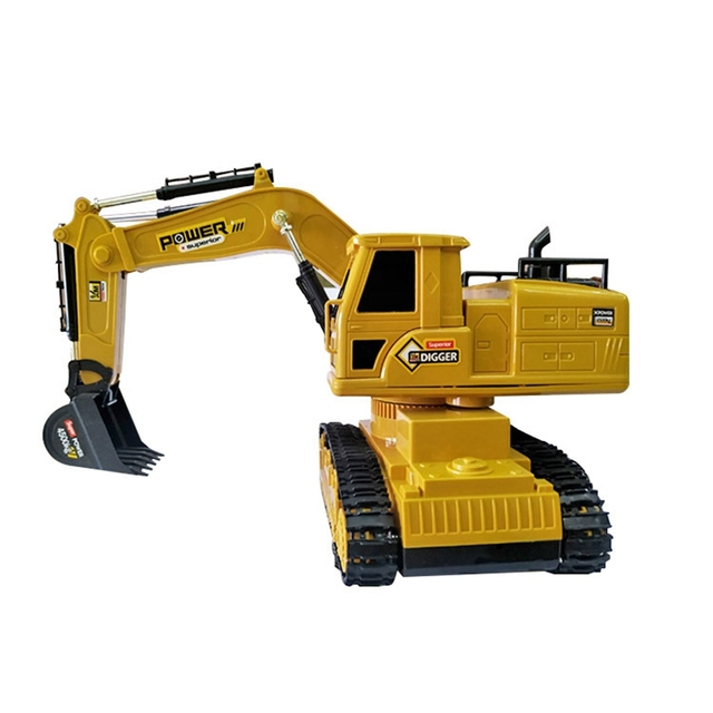 RC Excavator Simulation Engineering Tractor Car Toy 10CH Boy Remote Control Toy Child Christmas Gift RC Truck 5