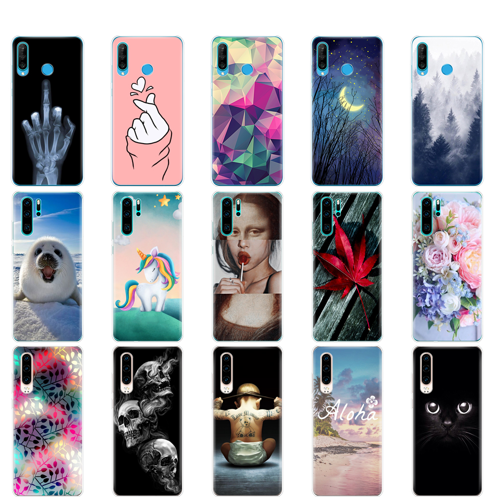 For Huawei P30 Pro Case Huawei P30Pro Silicone Soft TPU Phone Back Cover On Huawei P30 Pro VOG-L29 ELE-L29 P 30 Lite Case bumper
