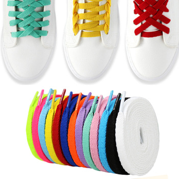 1 Pairs Flat Shoelaces Sneakers Sport Shoes Colorful Shoe Laces DIY For Football Boots Trainer Shoes Strings Shoe Accessories image