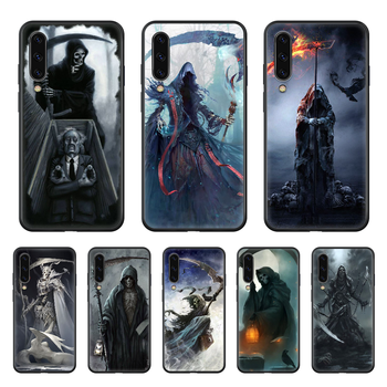 Grim Reaper Sickle Phone case hull For Samsung Galaxy A 50 51 20 71 70 40 30 10 E 4G S black back painting waterproof tpu funda image