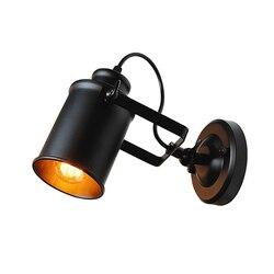 Lâmpada de parede do vintage russo industrial ponto luz arandela iluminação com ferro preto abajur e27 edison luminária parede