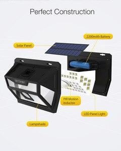 Image 4 - Blitzwolf BW OLT1 الشمسية الطاقة 62 LED الذكية PIR الحركة الاستشعار التحكم IP64 الجدار ضوء مصباح في الهواء الطلق حديقة مسار ساحة Scecurity