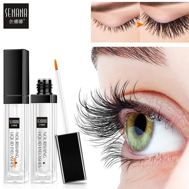 SENANA EGF Eyelash Growth Serum Vitamin E Eyelash Enhancer Longer Fuller Thicker Lashes Eyelashes Eyebrows Enhancer Eye Care 7Ml 1