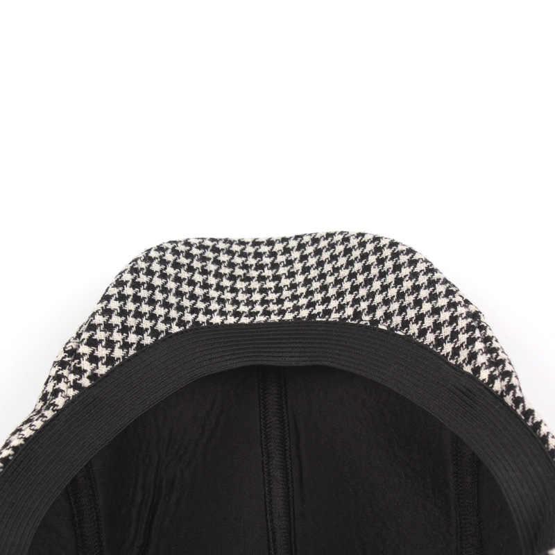 RoxCober 秋冬ベレーチェック柄ヴィンテージキャスケットキャップファッションゴルフドライブ Gastby 帽子カジュアル屋外キャップ