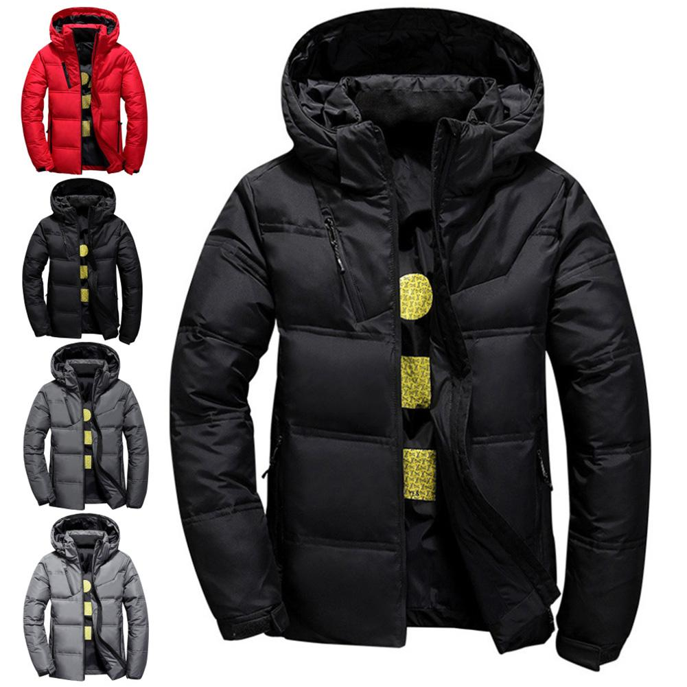 Trendy Elegant Winter Coat Jacket Men Quality Thermal Thick Coat Parka Male Warm Outwear Down Jacket Coat Gift Men Hooded Design