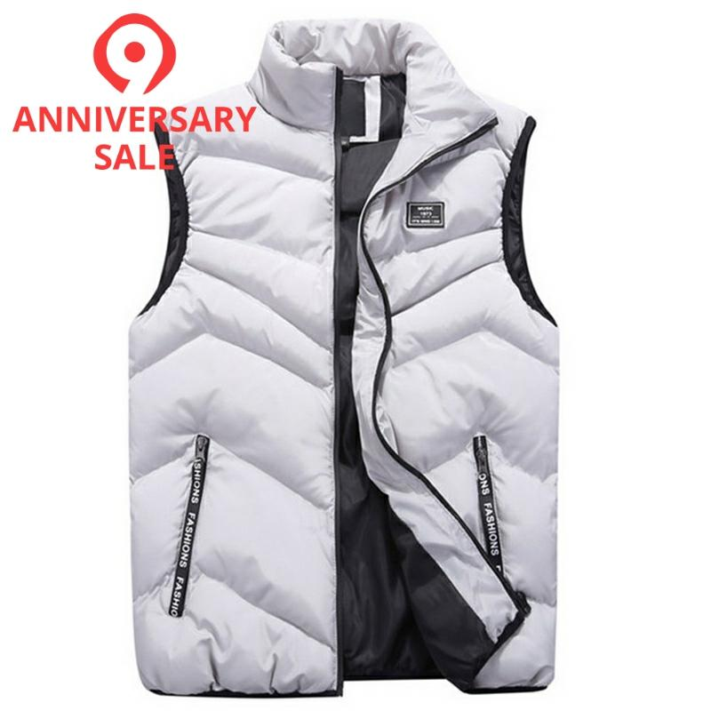 FALIZA New Men's Vest Spring Winter Sleeveless Jacket And Coats Mens Waistcoat Warm Thick Casual Gilet Homme Male Vests MJ110