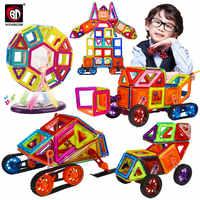 46-168PCS Big Size Magnetic Blocks DIY Building Bricks Designer Construction Magnet Designer Educational Toys For Children