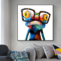 Canvas Art Paintings Modern Animals Wall Posters And Prints Frog with Glasses Pictures For Living Room Cuadros Decoration