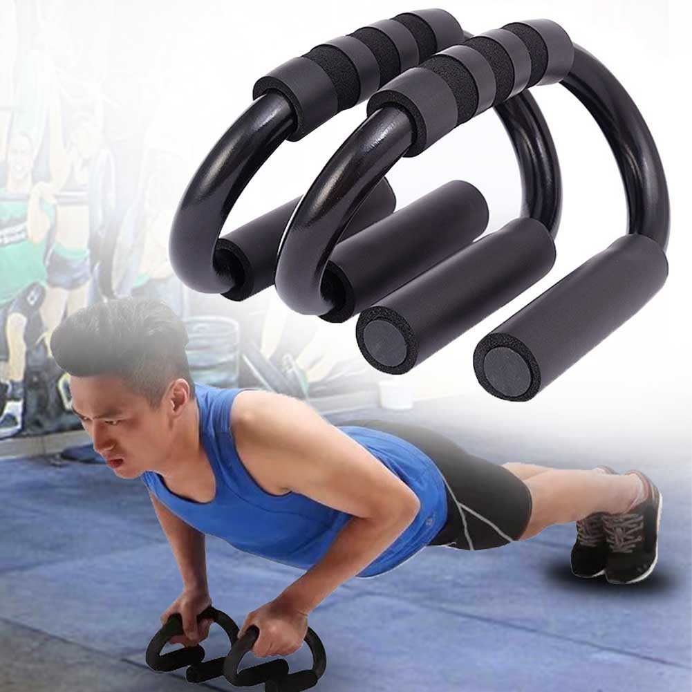 1 Pair I-shaped Push Up Bars Stand Foam Handles for Chest Fitness Home Hot