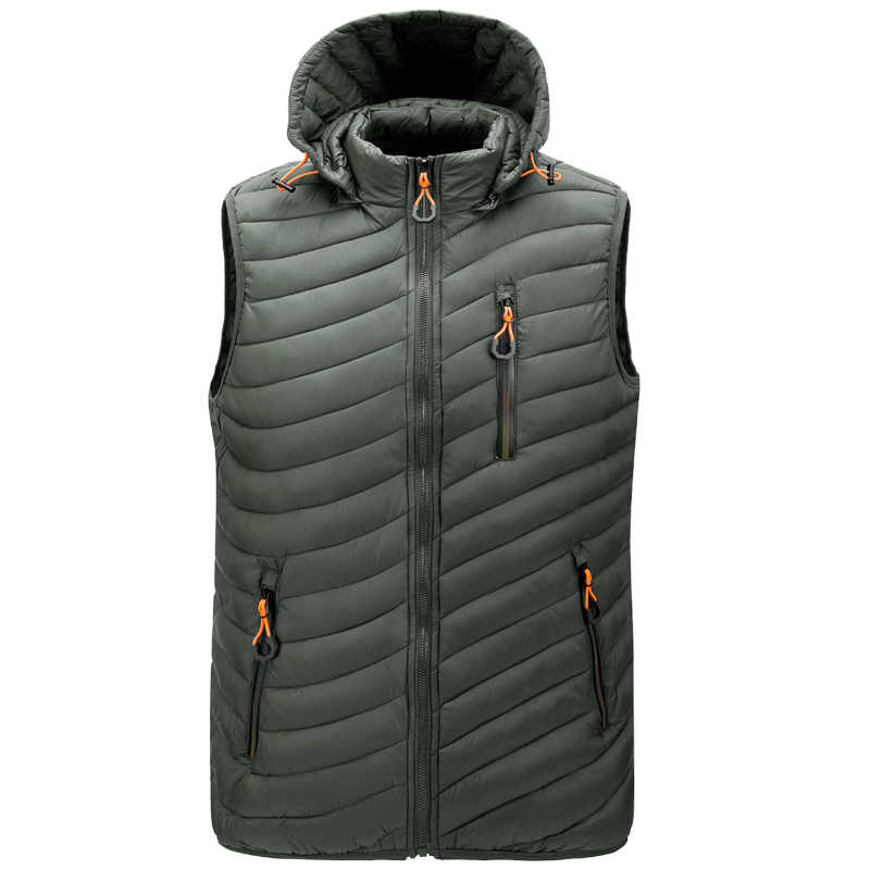 Chaleco de exterior para hombre ultraligero e invernal para el trabajo para hombre acolchado sin mangas acolchado chaleco de senderismo impermeable