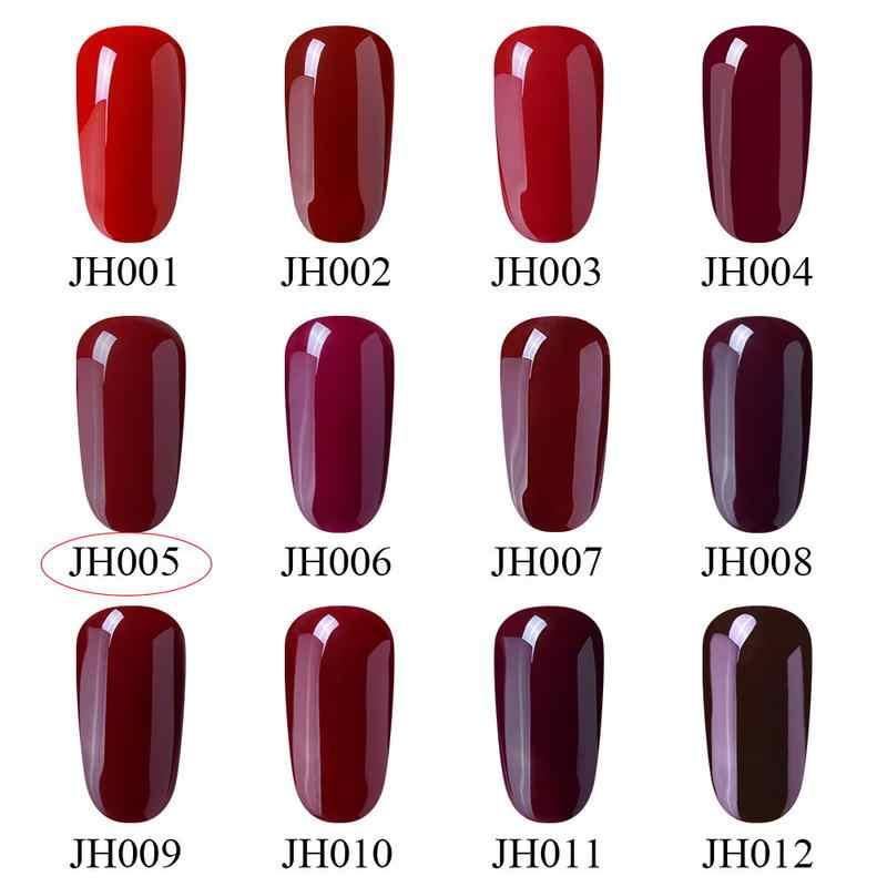 Elite99 şarap kırmızı serisi UV oje kapalı ıslatın jel lehçe tırnak hibrid vernikler yarı kalıcı tırnak sanat emaye cila manikür