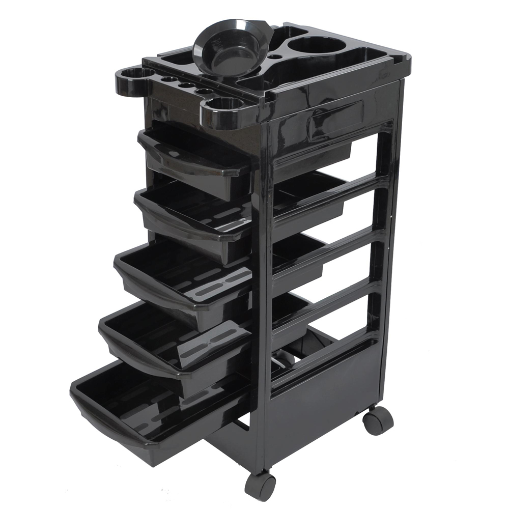 5-Tier Salon Rolling Trolley Cart With Drawers