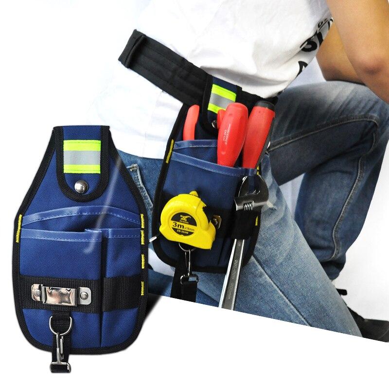 NEW High Capacity Tool Bag Waist Pockets Electrician Tool Bag Oganizer Carrying Pouch Tools Bag Belt Waist Pocket Case Waist Bag