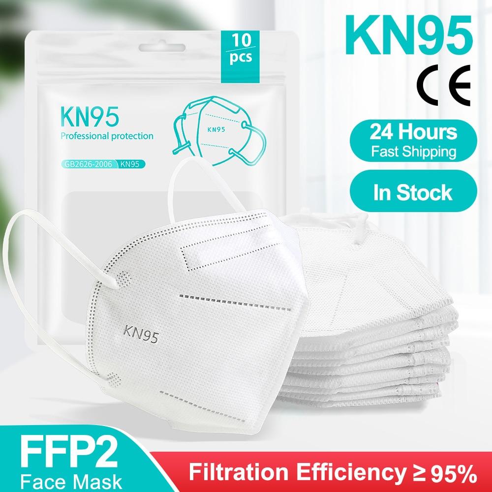 Face-Mask Mascarillas Ffp2reutilizable Adult 1-100pcs Ce-Certified KN95