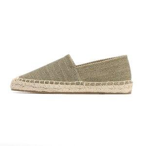 Image 2 - ผู้หญิง espadrilles ขี้เกียจ zapatos mujer ผู้หญิงผ้าใบลำลองรองเท้าการ์ตูนผ้าลินินผู้หญิง Espadrille Fisherman สุภาพสตรีรองเท้า Plimsolls L