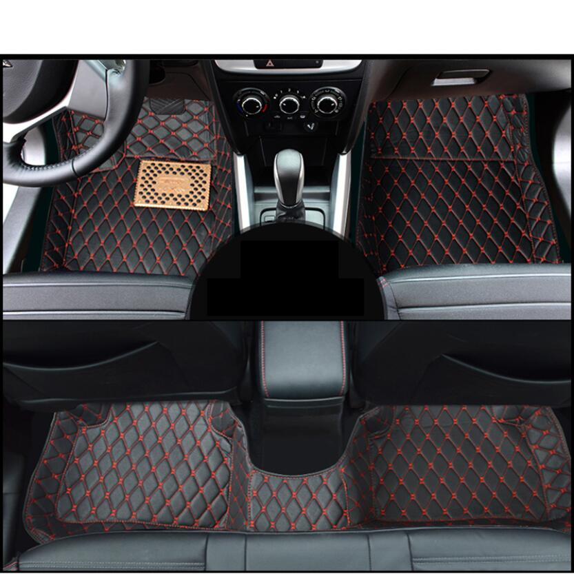 for leather car interior floor mat for <font><b>suzuki</b></font> <font><b>SX4</b></font> <font><b>SX4</b></font> S-Cross 2006-2020 <font><b>2019</b></font> 2018 2017 2016 2015 2014 2013 2011 2008 image