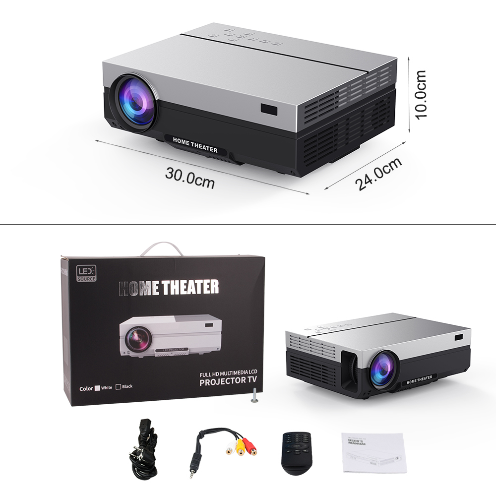 Image 2 - Everycom T26K Full HD Projector 1920x1080P Projector Portable 5500 Lumens HDMI Beamer Video Proyector LED Home Theater Movie-in LCD Projectors from Consumer Electronics