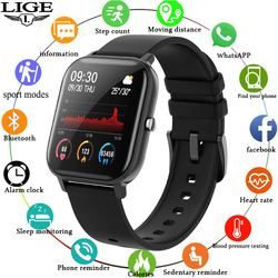 LIGE P8 Smart Watch Men Women smartwatch Sports Fitness Tracker IPX7 Waterproof LED Full Touch Screen suitable For Android ios