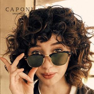 Image 2 - CAPONI الاستقطاب النظارات الشمسية الرجال النساء شعبية العلامة التجارية الكلاسيكية تصميم نظارات شمسية طلاء عدسة الظل موضة بنات نظارات CP3101