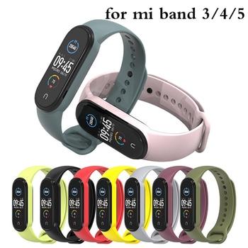 цена на Bracelet Strap for Xiaomi mi band 5 4 3 Strap Silicone Wristband Replacement Strap for mi band 4 3 5 Bracelet Smart Watch