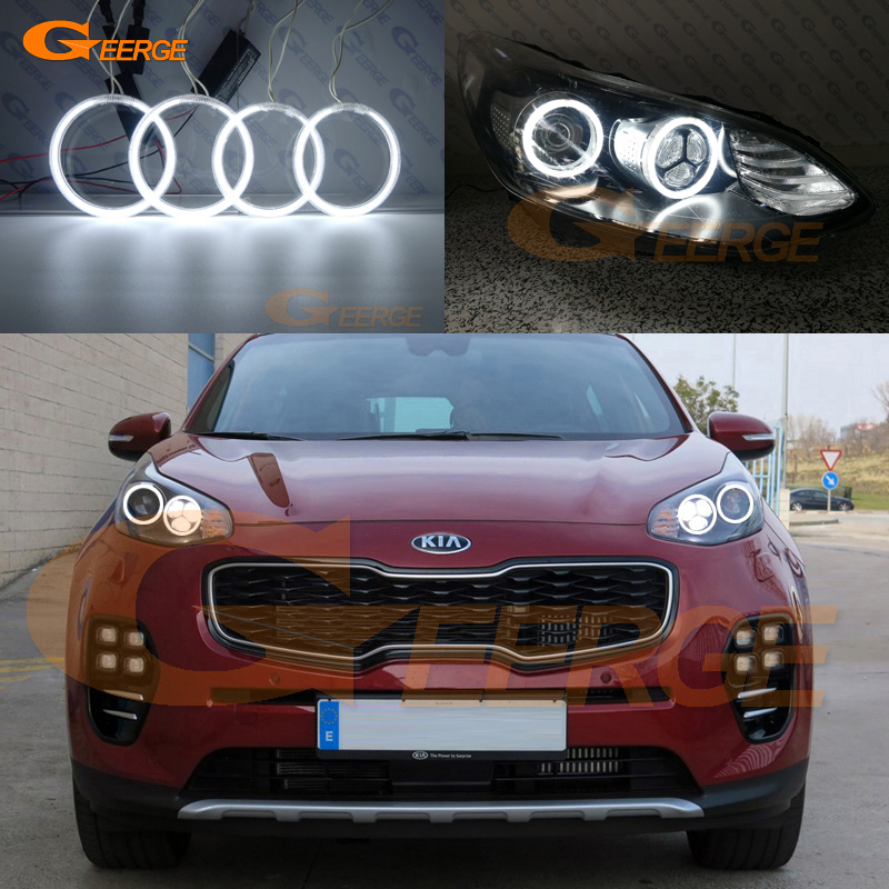 For Kia Sportage MK4 KX5 2015 2016 2017 2018 2019 Excellent Ultra Bright Illumination Ccfl Angel Eyes Kit Halo Ring