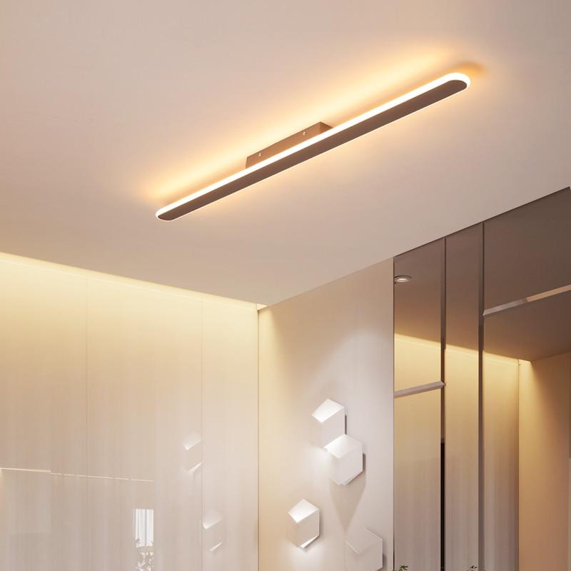 Minimalist brown modern LED ceiling lights for bedroom aisle AC110 240V LED ceiling lamp lamparas de techo plafondlamp|Ceiling Lights| |  - title=