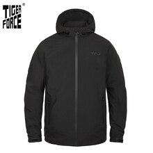 Tiger Force 2019 nueva chaqueta de primavera para hombre con capucha rompevientos Casual de talla grande chaqueta de bombardero de moda para hombre abrigo impermeable